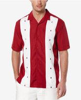 Cubavera Men's Geo Embroidered Panel Short-Sleeve Shirt