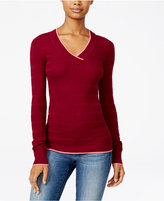 Energie Juniors' Molly V-Neck Textured Sweater