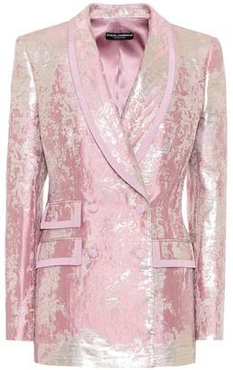 Dolce & Gabbana Lame jacquard blazer