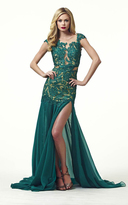 Mac Duggal Couture - 61041R Lace Illusion Evening Dress