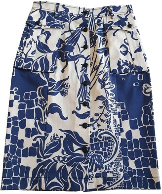 Emilio Pucci Blue Cotton - elasthane Skirt for Women