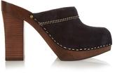 See by Chloe Suede block-heel clogs