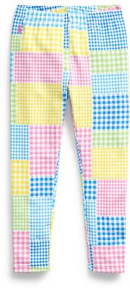 Ralph Lauren Mixed-Gingham Jersey Legging
