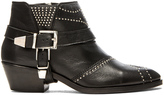 Anine Bing Studded Boots with Buckles