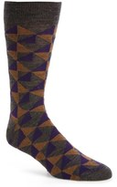 Lorenzo Uomo Geometric Merino Wool Blend Socks (3 for $30)