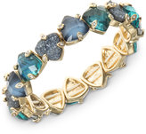 lonna & lilly Gold-Tone Blue Stone Stretch Bracelet