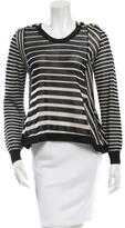 3.1 Phillip Lim Long Sleeve Striped Knit Top