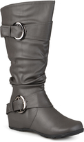 Journee Collection Gray Paris Extra Wide-Calf Boot