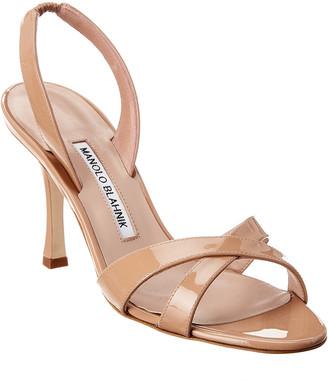 Manolo Blahnik Callasli 90 Patent Sandal