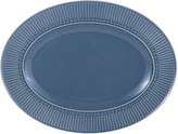 Mikasa Italian Countryside Accents Fluted Blue Oval Platter