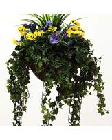 Fashion World Artificial Plant Pansy Basket