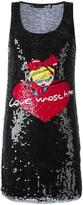 Love Moschino sequinned logo tank dress