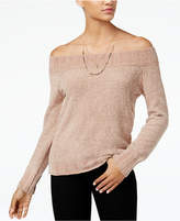 American Rag Juniors' Off-The-Shoulder Chenille Sweater, Created for Macy's