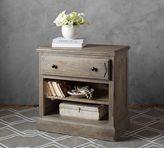 Pottery Barn Linden Wood Paneled Bedside Table