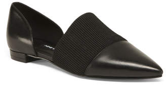 Pointy Toe Leather Flats