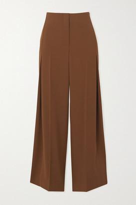 The Row Alexa Wool-twill Pants - Brown