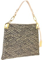 Badgley Mischka Gaia Geometric Shoulder (Black/Latte) - Bags and Luggage