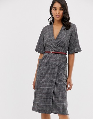 Closet London Closet belted wrap dress