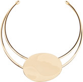 Lydell NYC Golden Wire Collar Necklace w/ Oval Station
