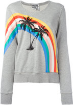 Pam & Gela printed palm trees sweatshirt - women - Cotton - M
