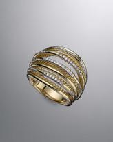 David Yurman Wire Dome Ring, Pave Diamond