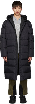 Kenzo Black Down Quilted Capsule Expedition Puffer Coat