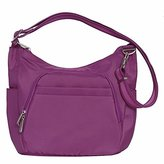 Travelon Anti-Theft Classic Crossbody Bucket Bag (, BERRY)