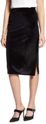 Halogen Velvet Stripe Pencil Skirt