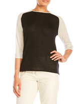 6397 Cashmere Baseball Sweater