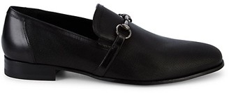 Mezlan Textured Leather Horse-Bit Loafers