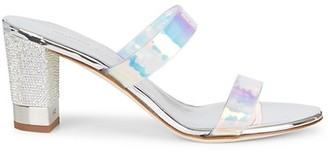 Giuseppe Zanotti Embellished Iridescent PVC Mules