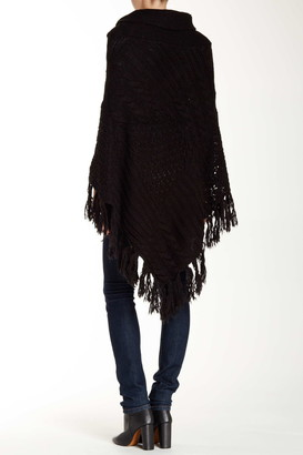 Vertigo Toggle Fringe Trim Poncho