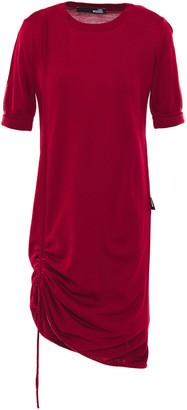 Love Moschino Gathered Wool-blend Mini Dress