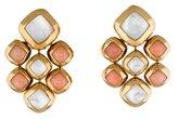 Van Cleef & Arpels Coral and Mother of Pearl Drop Earrings