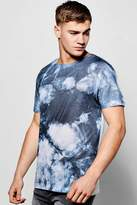 Boohoo Tie Dye Sublimation T Shirt