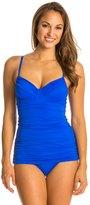 Carmen Marc Valvo Tanzania Solids Underwire Swim Dress 8115597