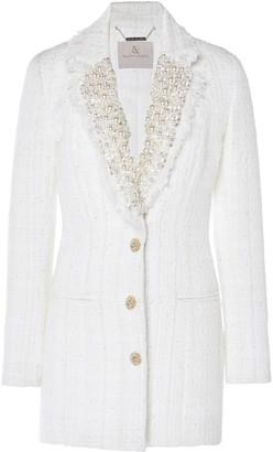 RALPH & RUSSO Pearl-Embellished Tweed Mini Dress