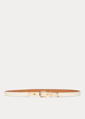 Ralph Lauren Calfskin Letter-Opener Belt
