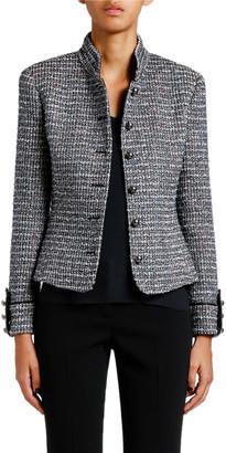 Giorgio Armani Metallic Tweed Military Jacket