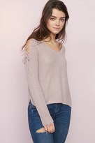 Garage Lace-Up Sleeve Sweater