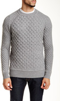 Billy Reid Honeycomb Crew Neck Wool Sweater