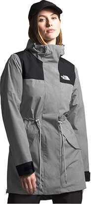 The North Face Metroview Trench (TNF Medium Grey Heather/TNF Black) Women's Clothing