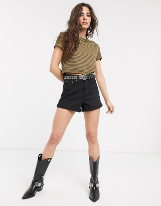 Free People sabrina stripe t-shirt-Brown