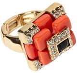 Rachel Zoe Sabine Orange Deco Ring