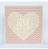 Someday Inc. 'Chevron Heart' Personalized Birchwood Wall Art