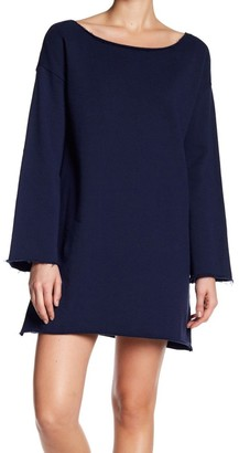 Lucca Couture Women's Riley Bell SLV Raw Edge Sweater Dress