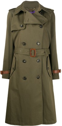 Ralph Lauren Collection Belted Double Breasted Silk Trench Coat