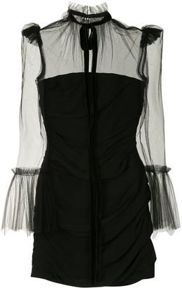 KHAITE Sheer Panel Mini Dress