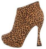 Alice + Olivia Ponyhair Leopard Booties