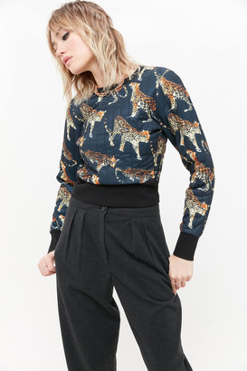 Urban Outfitters Naomi Quilted Crew Neck Sweatshirt